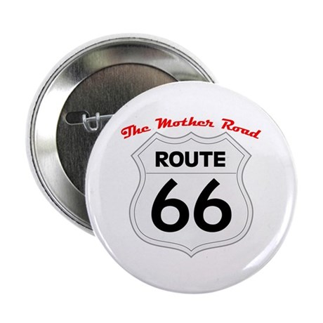 """Route 66 - The Mother Road 2.25"""" Button"""