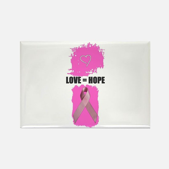 LOVE=HOPE Rectangle Magnet