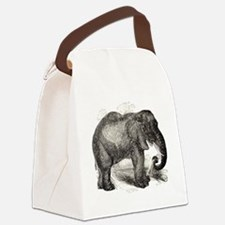 Funny I love elephants Canvas Lunch Bag