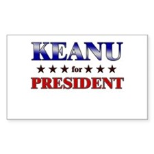 KEANU for president Rectangle Decal