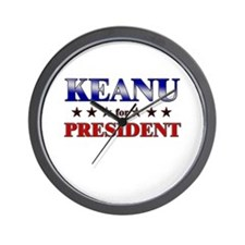 KEANU for president Wall Clock