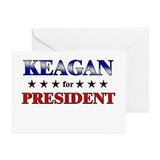 KEAGAN for president Greeting Cards (Pk of 20)
