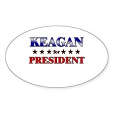 KEAGAN for president Oval Decal