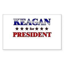 KEAGAN for president Rectangle Decal