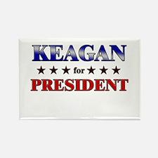 KEAGAN for president Rectangle Magnet