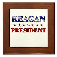 KEAGAN for president Framed Tile