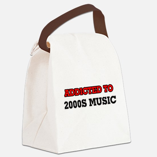 Addicted to 2000s Music Canvas Lunch Bag