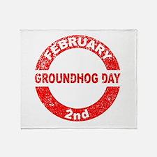 Groundhog Day Stamp Throw Blanket