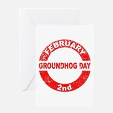 Groundhog Day Stamp Greeting Cards