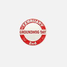 Groundhog Day Stamp Mini Button