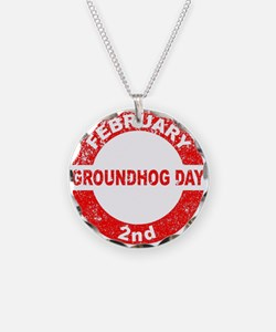 Groundhog Day Stamp Necklace