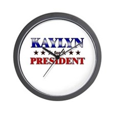KAYLYN for president Wall Clock