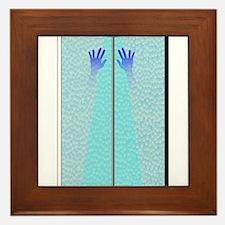 Shower Hands Framed Tile