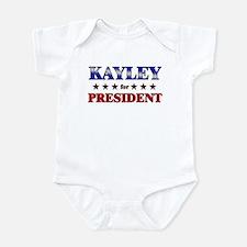 KAYLEY for president Infant Bodysuit