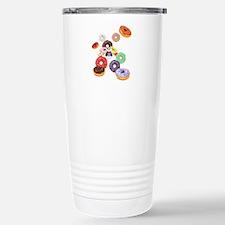Panda & Donuts Stainless Steel Travel Mug