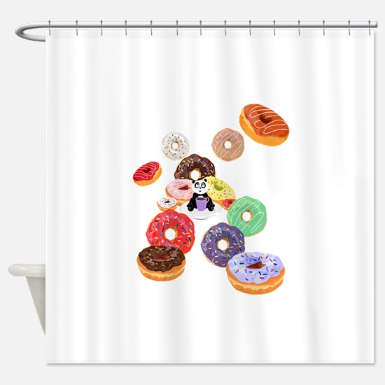 Panda & Donuts Shower Curtain