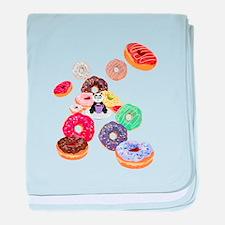 Panda & Donuts baby blanket