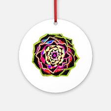 Organic Mandala Round Ornament