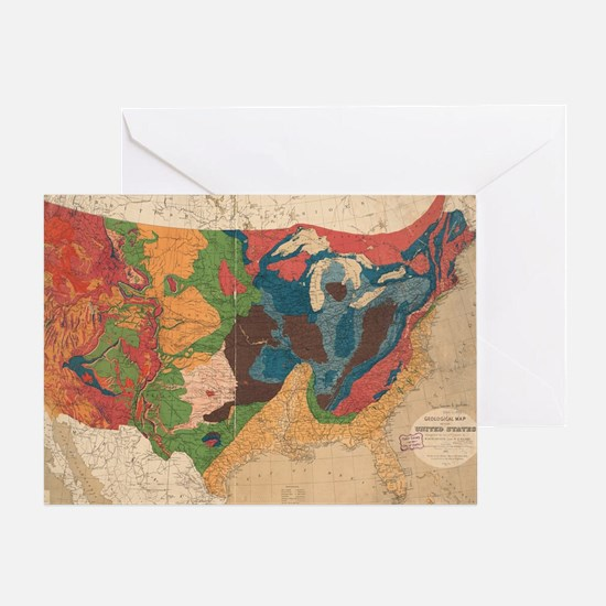 Funny Us states Greeting Card