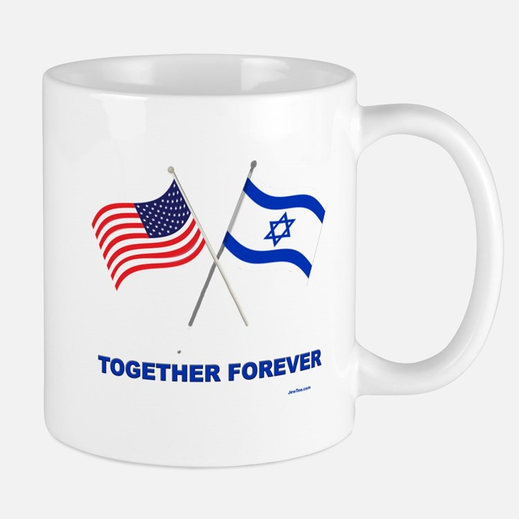 US and Israel Together Forever Mugs