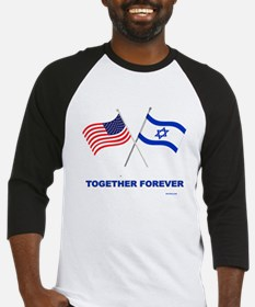 Us And Israel Together Forever Baseball Jersey