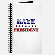KAYE for president Journal