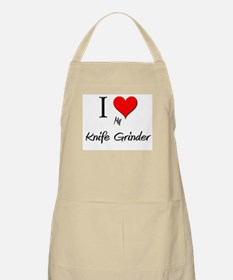 I Love My Knife Grinder BBQ Apron