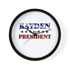 KAYDEN for president Wall Clock