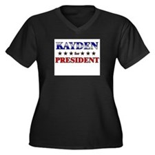 KAYDEN for president Women's Plus Size V-Neck Dark