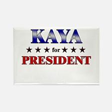 KAYA for president Rectangle Magnet