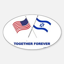 US and Israel Together Forever Decal