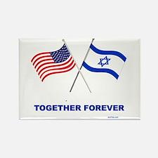 US and Israel Together Forever Magnets
