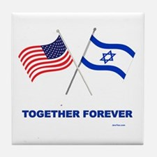 Us And Israel Together Forever Tile Coaster