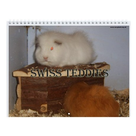 Swiss Teddies Wall Calendar