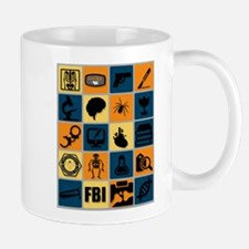 BONES TV Flat Icon Poster Mugs