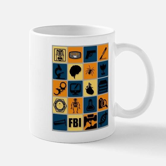 BONES TV Flat Icon Poster Mugs