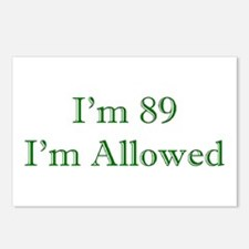 89 I'm Allowed 3 Green Postcards (Package of 8)