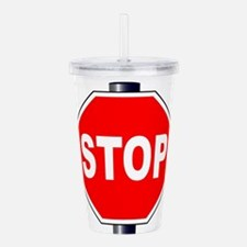 Octagon Stop Sign Acrylic Double-wall Tumbler