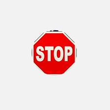 Octagon Stop Sign Mini Button