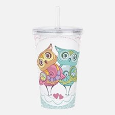 Cute Owls Acrylic Double-wall Tumbler
