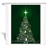 Christmas tree Shower Curtains