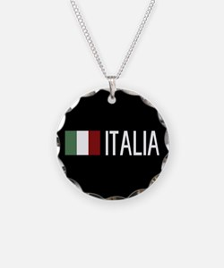 Italy: Italia & Italian Flag Necklace