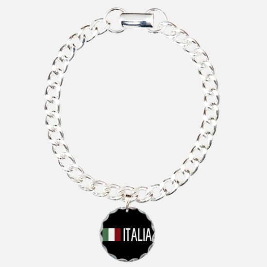 Italy: Italia & Italian Charm Bracelet, One Charm