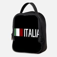 Italy: Italia & Italian Flag Neoprene Lunch Bag