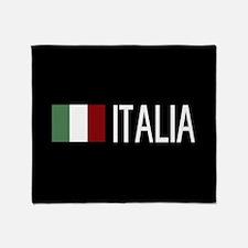Italy: Italia & Italian Flag Throw Blanket