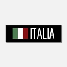 Italy: Italia & Italian Flag Car Magnet 10 x 3