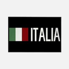 Italy: Italia & Italian Flag Rectangle Magnet