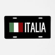 Italy: Italia & Italian Fla Aluminum License Plate