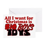 Big Boys Toys Greeting Cards (Pk of 10)