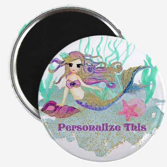 Cute Personalized Mermaid Magnets